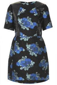 Vinyl detail dress, now £30 Topshop